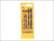 DEWALT DEWDT4535QZ - Brad Point Drill Bit Set of 5 - 4, 5, 6, 8 & 10mm