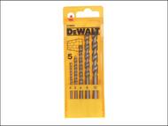 DEWALT DEWDT6952QZ - Masonry Drill Set 5 Piece 4-10mm