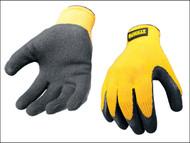DEWALT DEWGRIPPER - Yellow Knit Back Latex Gloves