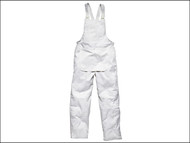 Dickies DIC650MW - Painter's Bib & Brace White- Medium 34 to 36 Waist