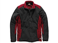 Dickies DIC7011RBM - Two Tone Micro Fleece Red / Black - M