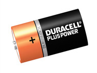 Duracell DURDK2P - D Cell Plus Power Batteries Pack of 2 LR20/HP2