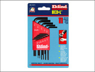 Eklind EKL10111 - Hexagon Key Short Arm Set of 11 Imperial (1/16 - 1/4in)