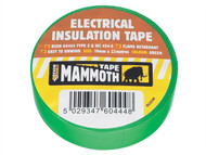 Everbuild EVB2ELECGRN - Electrical Insulation Tape Green 19mm 33m