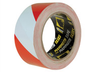 Everbuild EVB2HAZRD - PVC Hazard Tape Red / White 50mm x 33m