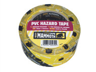 Everbuild EVB2HAZYW - PVC Hazard Tape Black / Yellow 50mm x 33m