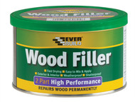Everbuild EVBHPWFM500G - Wood Filler High Performance 2 Part Medium Stainable 500g