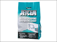 Everbuild EVBJETWAT3 - Jetcem Water Proofing Rapid Set Cement (Single 3kg Pack)