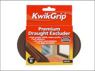 Everbuild EVBKGDEEBN - KwikGrip Draught Excluder E-Strip Brown 9mm x 6m