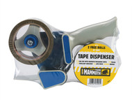 Everbuild - Mammoth Tape Dispenser & 2 Rolls Tape 48mm x 50m