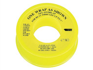 Everbuild EVBPTFEGAS - P.T.F.E Tape 13mm x 5m - Gas