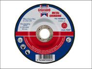 Faithfull FAI1005MDG - Grinding Disc for Metal Depressed Centre 100 x 5 x 16mm