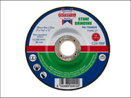 Faithfull FAI1256SDG - Grinding Disc for Stone Depressed Centre 125 x 6 x 22mm