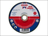 Faithfull FAI1806MDG - Grinding Disc for Metal Depressed Centre 180 x 6.5 x 22mm