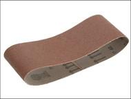 Faithfull FAIAB75533M - Cloth Sanding Belt 533 x 75mm 80g (Pack of 3)