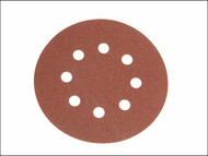 Faithfull FAIAD125240H - Aluminium Oxide Disc DID3 Holed 125mm x 240g (Pack of 25)
