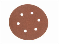 Faithfull FAIAD15080H - Hook & Loop Sanding Disc DID2 Holed 150mm x 80g (Pack of 25)