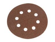 Faithfull FAIADHL125MF - Hook & Loop Sanding Disc 125mm DID3 Medium Fine (Pack of 5)