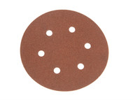 Faithfull FAIADHL150C - Hook & Loop Sanding Disc 150mm DID2 Coarse (Pack of 5)
