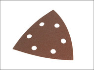 Faithfull FAIADSSVC - Delta Hook & Loop Sanding Sheets TR2 93mm Very Coarse (Pack of 5)