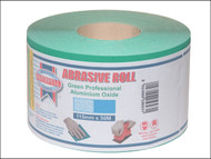 Faithfull FAIAR115120G - Aluminium Oxide Paper Roll Green 115 mm x 50m 120g
