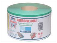 Faithfull FAIAR115120G - Aluminium Oxide Paper Roll Green 115 mm x 50m 120g