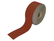 Faithfull FAIAR11540R - Aluminium Oxide Paper Roll Red Heavy-Duty 115 mm x 50m 40g