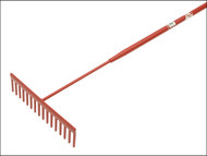 Faithfull FAIASP - 16 Flat Teeth Asphalt Rake - Tubular Shaft