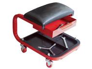 Faithfull FAIAUSEAT - Seat On Wheels C/W Tray & Drawer