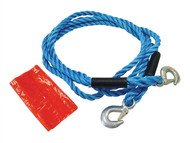 Faithfull FAIAUTR2TON - Tow Rope 4m Metal Hooks 2 Tonne