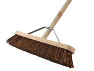 Faithfull FAIBRBAS18H - Broom Stiff Bassine 45cm (18 in) + Handle & Stay
