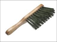 Faithfull FAIBRHANDSTI - Hand Brush Stiff Green PVC 275mm (11 in)