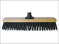 Faithfull FAIBRPVC18R - Platform Broom Head Black PVC 45cm (18in) Threaded Socket