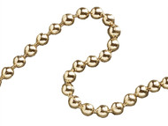 Faithfull FAICHBPB3210 - Ball Chain Polished Brass 3.2mm x 10m