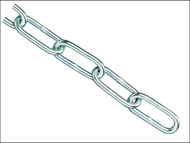 Faithfull FAICHCUT30Z - Zinc Plated Chain 3.0mm x 2.5m - Max Load 80kg