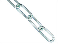 Faithfull FAICHCUT40Z - Zinc Plated Chain 4.0mm x 2.5m - Max Load 120kg