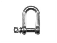 Faithfull FAICHDS60 - D Shackle Zinc Plated 6mm (Pack of 4)