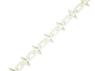 Faithfull FAICHPLWS612 - Plastic Chain 6mm x 12.5m White Spiked