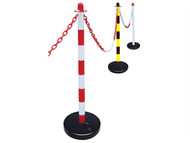 Faithfull FAICHPOSTRW - Plastic Post for Chain - Red / White