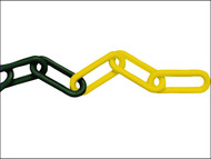 Faithfull FAICHPYB812C - Plastic Chain 8mm x 12.5m Yellow / Black