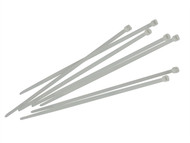 Faithfull FAICT150W - Cable Ties White 150mm x 3.6mm Pack of 100