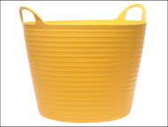 Faithfull FAIFLEX28Y - Heavy-Duty Polyethylene Flex Tub 28 Litres Yellow