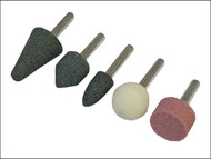 Faithfull FAIGWSET5 - Mounted Stones (Grinding) Set of 5