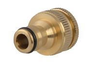 Faithfull FAIHOSETC - Brass Dual Tap Connector 12.5 - 19mm (1/2 - 3/4in)