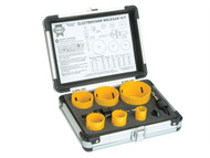 Faithfull FAIHSKE - Holesaw Kit Set of 9 Electricians 16-51mm