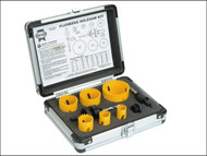 Faithfull FAIHSKP - Holesaw Kit Set of 9 Plumbers 19-57mm