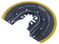 Faithfull FAIMFBM87 - Multi-Functional Tool Bi-Metal Radial Saw TiN Coated Blade 87mm