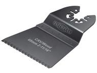 Faithfull FAIMFW68GB - Multi-Functional Tool Flush Wood Blade Ground Set 68mm Pack of 5