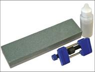 Faithfull FAIOS8CHG - Oilstone 200mm & Honing Guide Kit