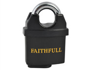 Faithfull FAIPLB50WP - PVC Coated Brass Padlock 50mm